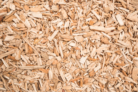Free Woodchips Delivery on dump truck front